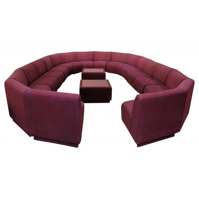 1970s Milo Baughman for Thayer Coggin 20 Piece Sectional For Sale - Image 5 of 8