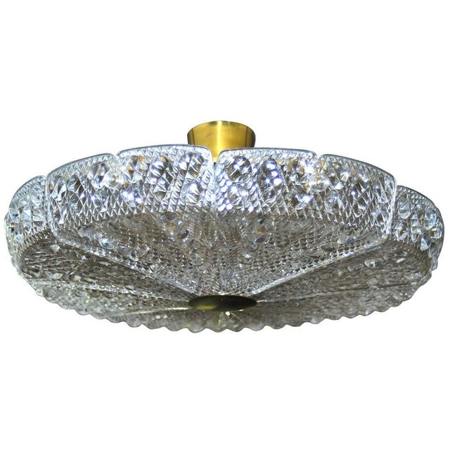 Carl Fagerlund Chandelier by Carl Fagerlund for Orrefors For Sale - Image 4 of 4