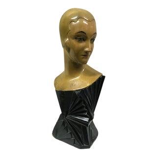 1930s Art Deco Mannequin Head For Sale