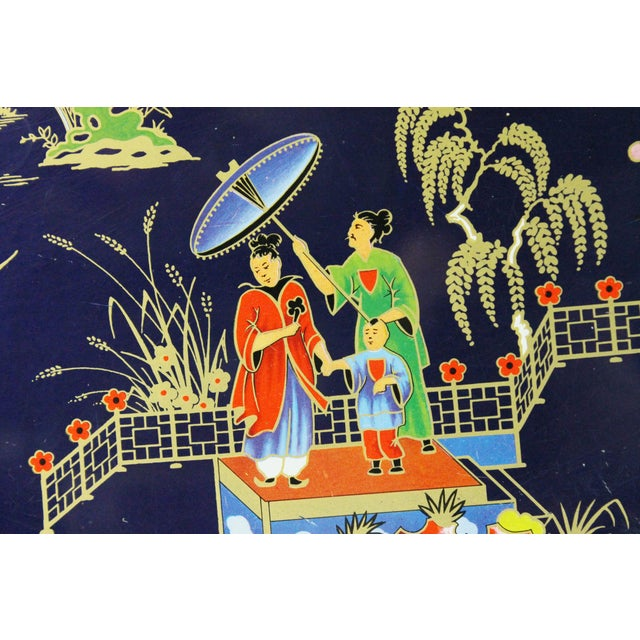 Chinoiserie Steel Serving Tray - Image 2 of 3