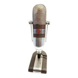 Vintage 1950s Studio Broadcast Microphone Decorative Display Piece For Sale