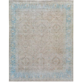 1930s Vintage Distressed Persian Rug - 9′4″ × 13′ For Sale