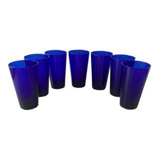 Set of Vintage Cobalt Blue Cocktail Glasses For Sale