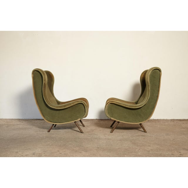 An pair of authentic early Marco Zanuso Senior chairs, Arflex, France/Italy, 1960s. Marked with original Arflex label. The...