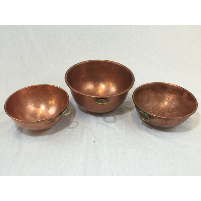 Vintage Copper Baking Bowls - Set of 3 - Image 6 of 6