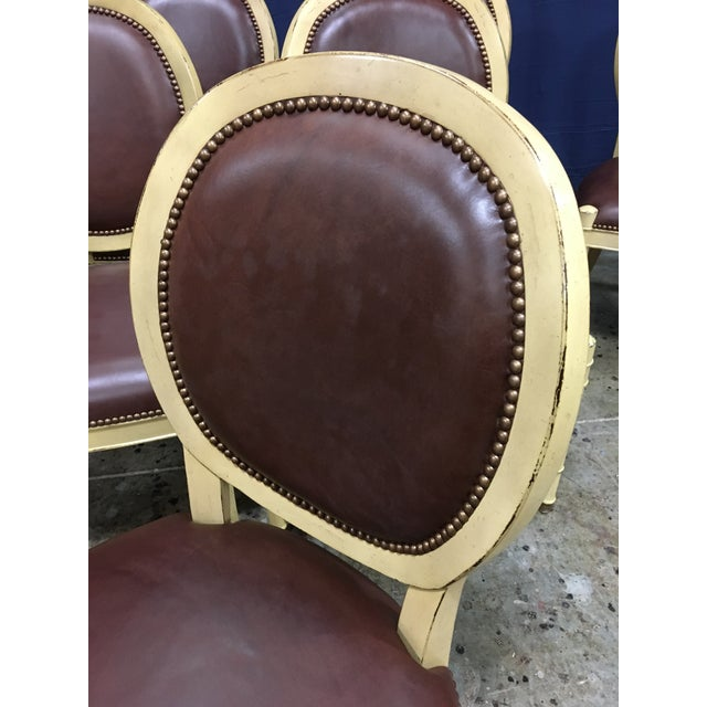 2010s Baker Oval Back Side Chairs - Set of 10 For Sale - Image 5 of 12