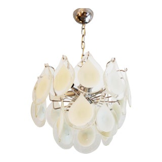 Art glass chandelier by Gino Vistosi for Venini For Sale