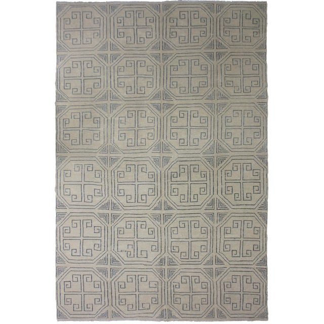 """Aara Rugs Inc. Hand Knotted Modern Kilim - 6'10"""" X 10'0"""" For Sale"""