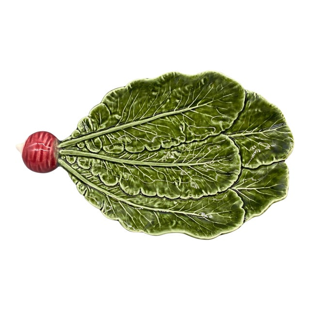 20th Century Majolica Radish Vegetable Platter/Dish For Sale
