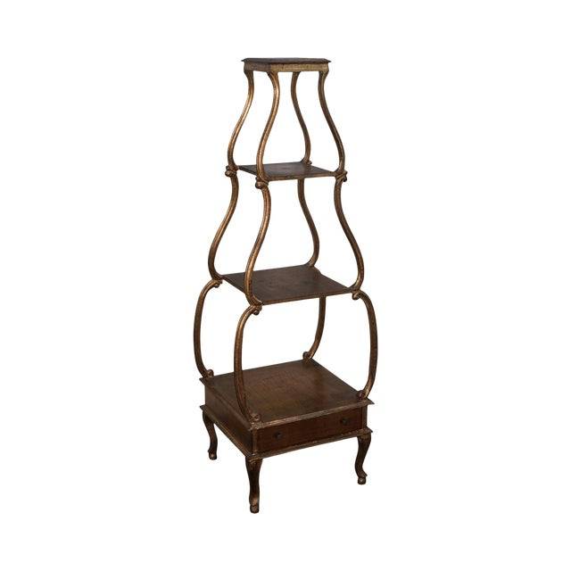 Italian Gilt Wood Louis XV Style 4 Tier Etagere - Image 1 of 10