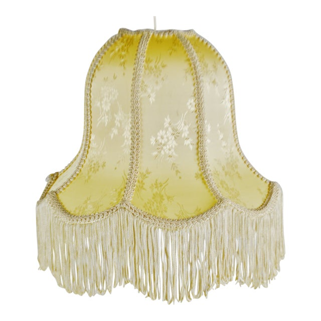 Vintage Victorian Style Bell Shaped Fringe Lamp Shade For Sale