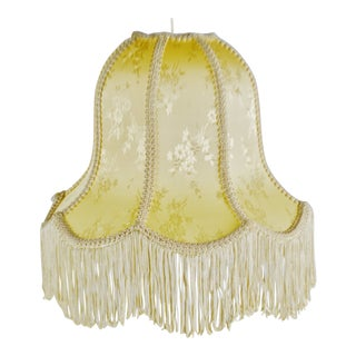 Vintage Victorian Style Bell Shaped Fringe lampshade For Sale