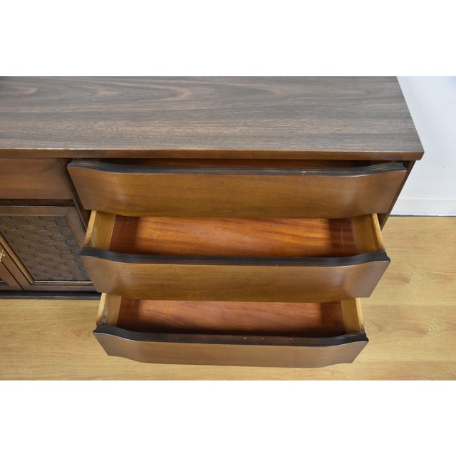 Mid-Century Walnut and Formica Credenza - Image 10 of 11