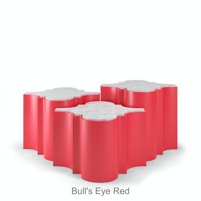 Sofia Nesting Tables, Set of 3 - Bull's Eye Red For Sale In Los Angeles - Image 6 of 6