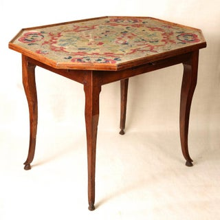 19th Century French Tapestry Top Game Table Preview