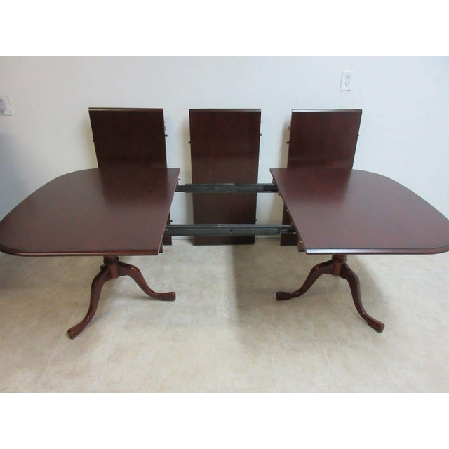 Pennsylvania House Cherry 3-Board Pedestal Dining Table For Sale - Image 9 of 11
