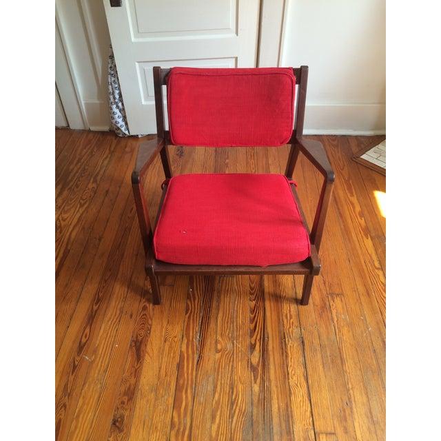 Mid-Century Walnut Lounge Chair - Image 5 of 10