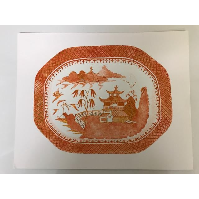 An adorable and bright print (orange on white) done by The Pink Pagoda. This print is done in the archival inks on premium...