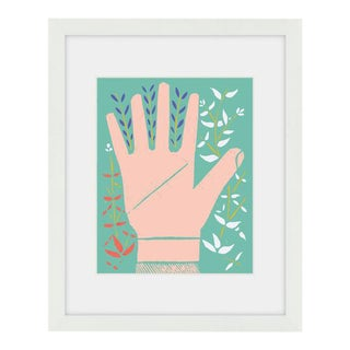 """Left Hand Print' Framed Wall Art"