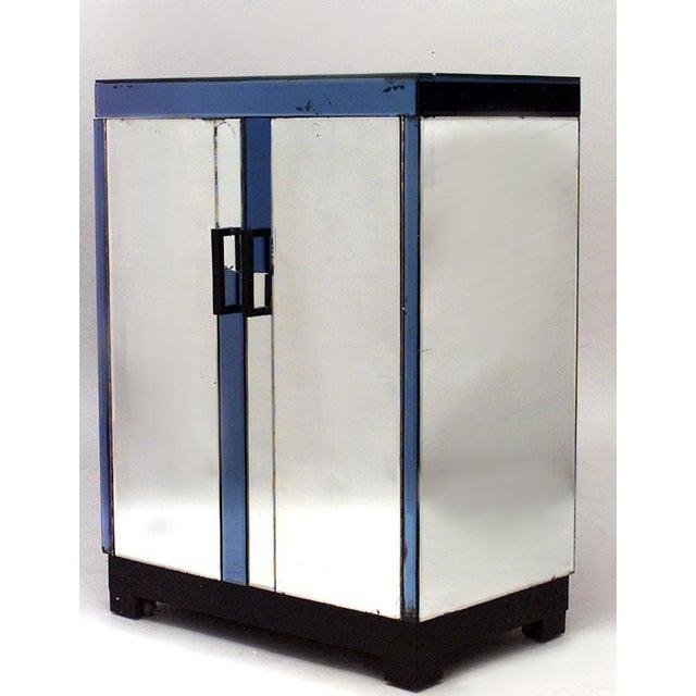 English Art Deco Mirrored 2 Door Flip Top Bar Cabinet For Sale In New York - Image 6 of 6