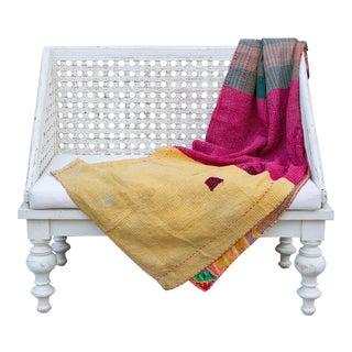Romi Bengal Kantha Throw For Sale