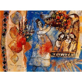 Romeo and Juliette I, Original Lithograph, Theo Tobiasse For Sale
