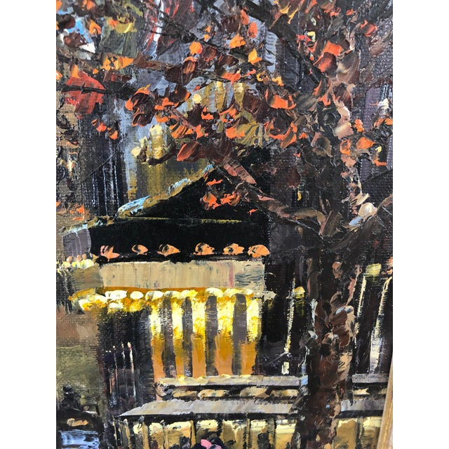 Original Oil Painting of New York City Pulitzer Fountain at the Plaza For Sale - Image 4 of 9