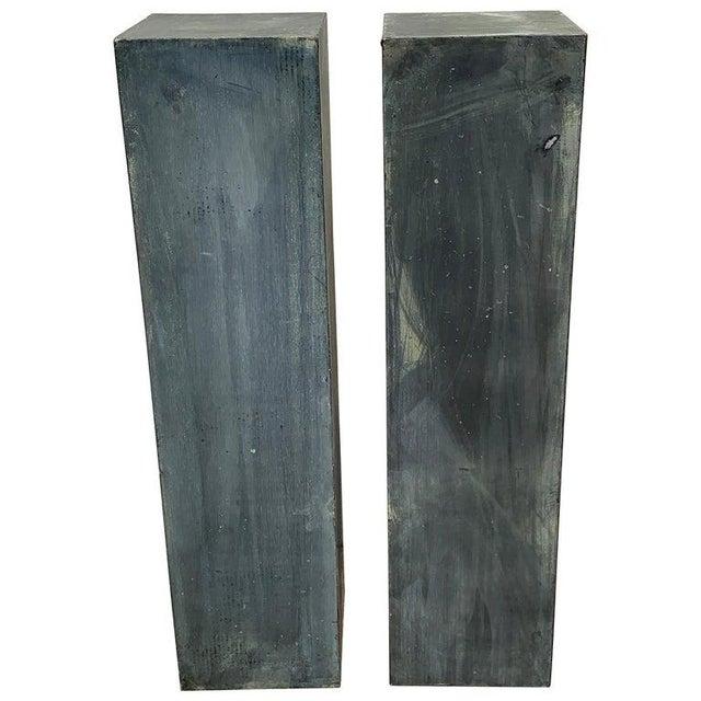 Pair of Industrial Verdigris Lead Columns For Sale - Image 9 of 9