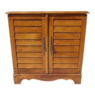 Vintage Maple File Cabinet