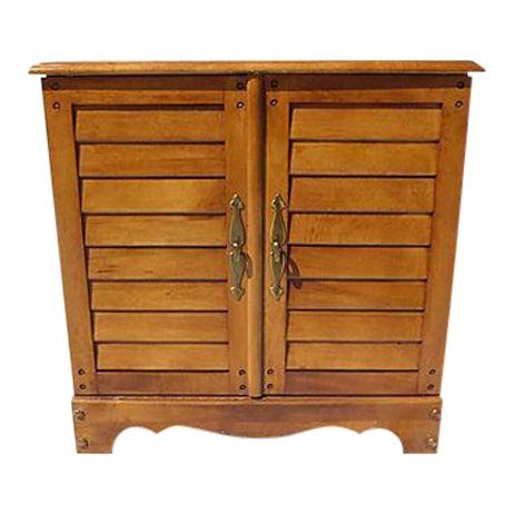 Vintage Maple File Cabinet For Sale