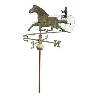 Vintage Horse and Buggy Coper Weathervane For Sale