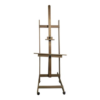 Solid Oak Artist's Easel For Sale
