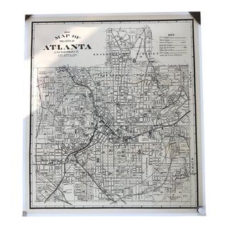 Vintage Map of Atlanta