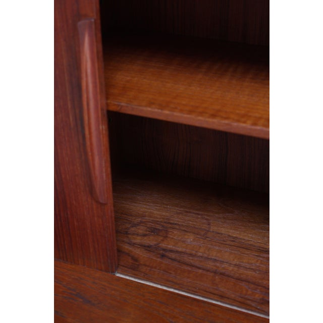 Wood Danish Teak Credenza by Ib Kofod-Larsen for Faarup For Sale - Image 7 of 13