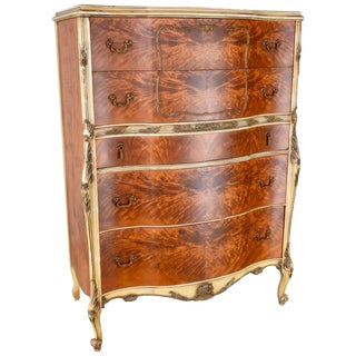 20th Century French Satinwood Chest on Chest For Sale
