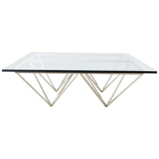 Chrome Pyramid Cocktail Table After Paolo Piva For Sale