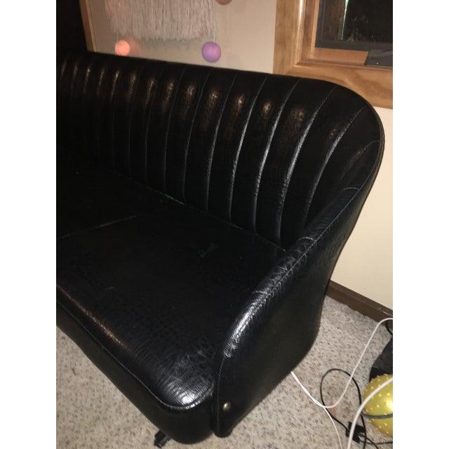 Vintage Homecrest Black Couch - Image 6 of 7