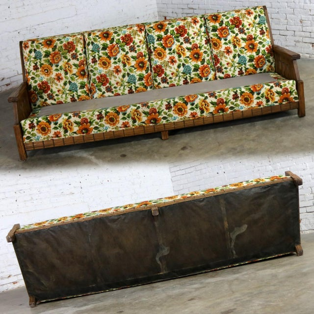Ranch Oak Western Style Sofa Attributed to A. Brandt Company For Sale - Image 6 of 13