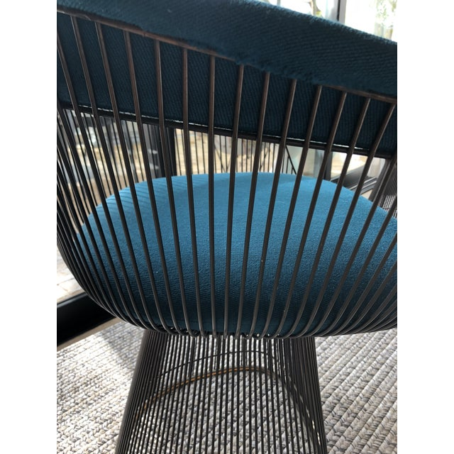 Vintage Mid Century Warren Platner Teal Dining Chairs- Set of 8 For Sale In Los Angeles - Image 6 of 12
