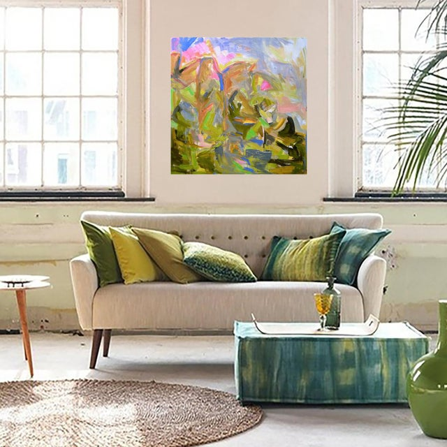 """2000s """"Mountain Falls"""" by Trixie Pitts Large Abstract Oil Painting For Sale - Image 5 of 8"""