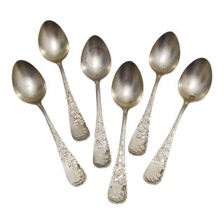 Sterling Silver Demitasse Spoons- Set of 6 For Sale