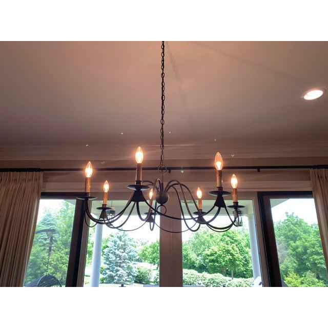 Traditional Visual Comfort Venetian 7 Light Bronze Chandelier For Sale - Image 3 of 5