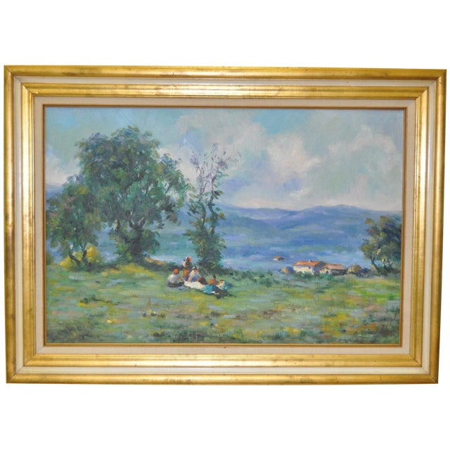 Signed Impressionist Oil Painting - Image 1 of 8