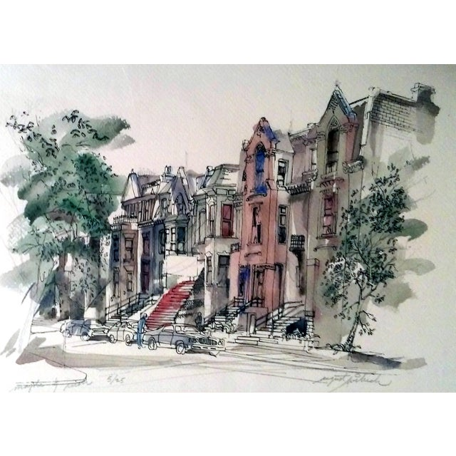 """""""Maple & Rush"""" Lithograph by August Wilrich - Image 10 of 10"""