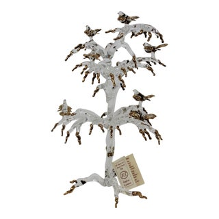 Murano Glass Tree With Birds by Raffaele For Sale