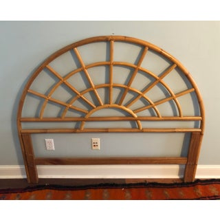 Bamboo Rattan Arched Queen Size Headboard Preview
