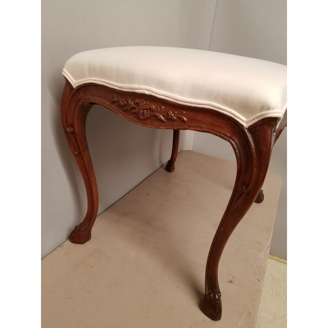 1930s 1930s French Country Walnut Bench With Hoof Feet For Sale - Image 5 of 8