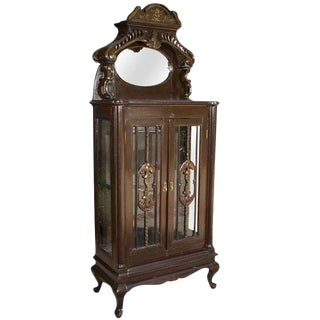 Early 1900s Curio Cabinet For Sale