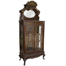 Used Cabinets For Sale >> Vintage Used Corner Display Cabinets For Sale Chairish