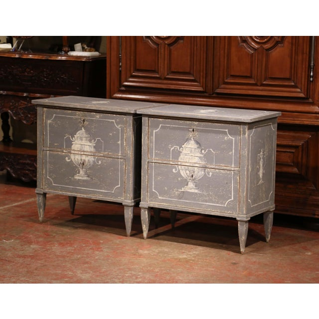 Place these rustic, antique bedside tables on each side of a king size bed. Crafted in northern France circa 1920, each...